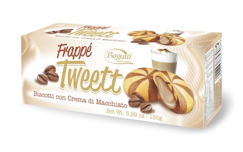 Tweet macchiato ízű töltött keksz