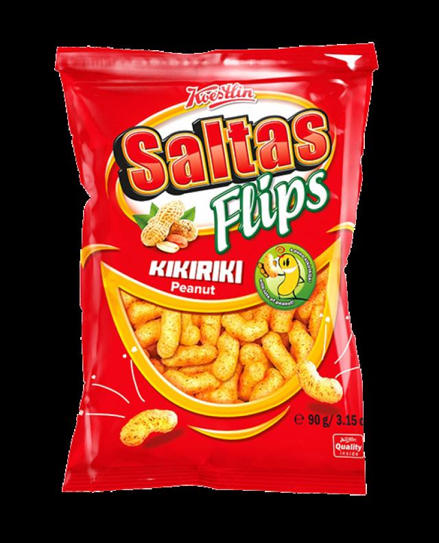 Saltas Flips - mogyorós extrudált kukorica snack, 90g