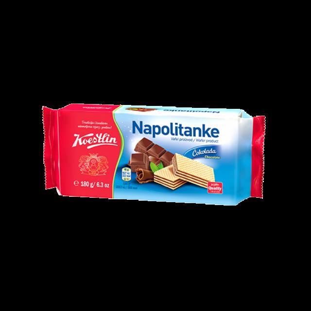 Nápolyi tejcsokoládé ízű krémmel töltve